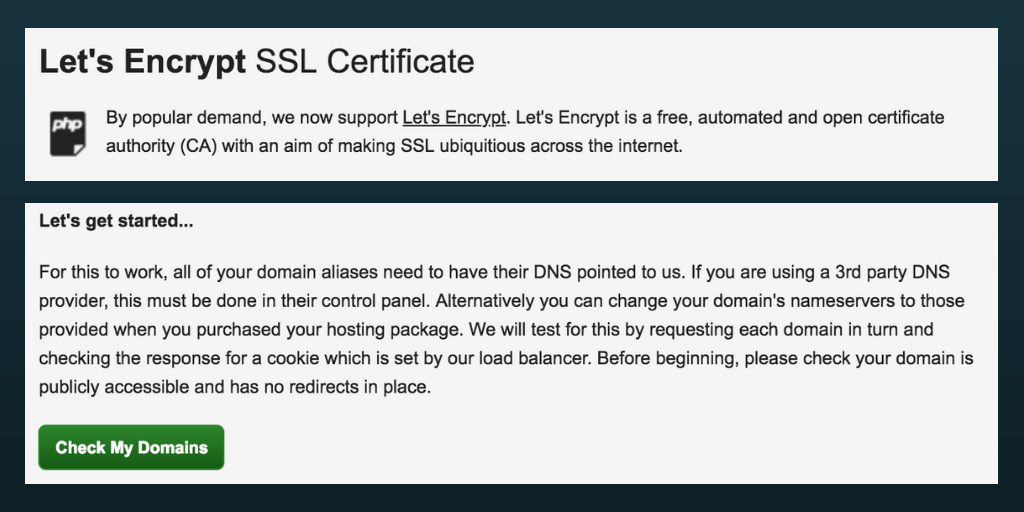 Is your website secure? Get a free SSL certificate on your